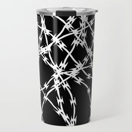 Trapped White on Black Travel Mug