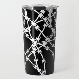 Trapped White on Black Travel Mug