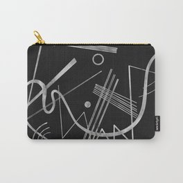 Kandinsky - Black Background Abstract art Carry-All Pouch