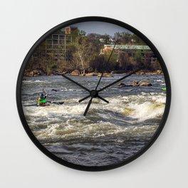 James River Kayakers Wall Clock