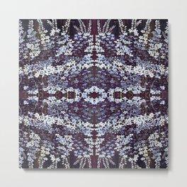 Delphinium Pattern Metal Print