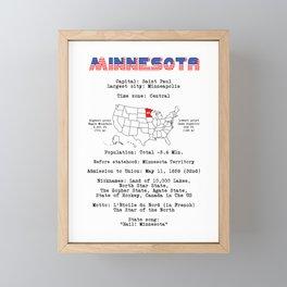 Minnesota Framed Mini Art Print