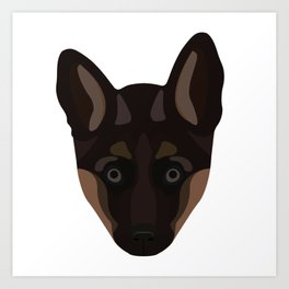German Shepard Puppy Decal Art Print
