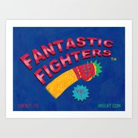 foo fighters Art Prints featuring Fantastic Fighters by murat kalkavan