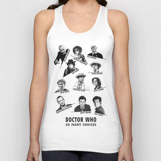 So Many Choices (Doctor Who) Unisex Tank Top