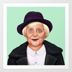 Hipstory -  Angela Merkel Art Print