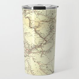 Vintage New Jersey Railroad Map (1869) Travel Mug