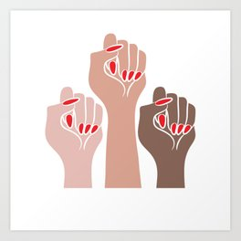 Womens For All Woman Every Kind And Race Fempowerment Power Women Art Print