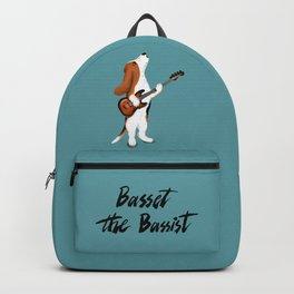 Basset the Bassist (Blue-Gray) Backpack