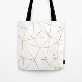 gold polygon on white Tote Bag