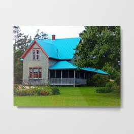 Ancestral Home by the Sea Metal Print