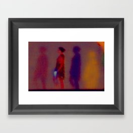 Walking In The Dark Framed Art Print