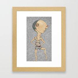 Champion swimmer Hugh Framed Art Print