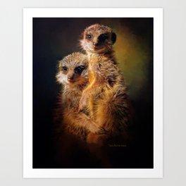 Meerkat Love Art Print