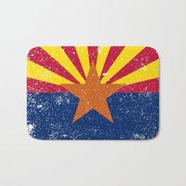 Arizona State Flag Grunge Bath Mat
