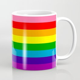 Rainbow Flag (Original Gay Pride Flag Colors) Coffee Mug
