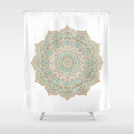 Mystic mandala - blue and gold Shower Curtain