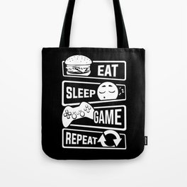 Eat Sleep Game Repeat | Video Game Console Gaming Tote Bag