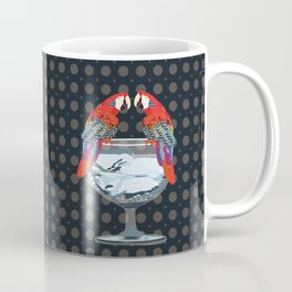 parrots on the cup of glass Coffee Mug