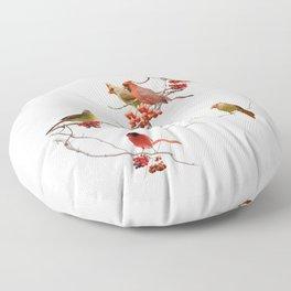 Perching Cardinals Floor Pillow