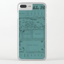 Map of Central Park 1856 Clear iPhone Case