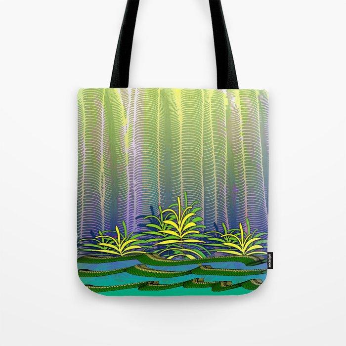 Tropical Yellow Jungle Tote Bag
