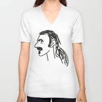 zappa V-neck T-shirts featuring Frank Zappa by rabuzina