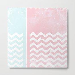 Zig Zag pink Metal Print