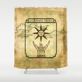 Praise The Sun - Tarot Solaire Shower Curtain