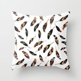 Feathers seamless pattern, vector illustration Throw Pillow