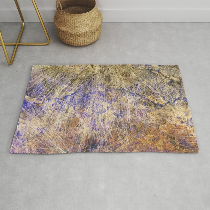 Purple Gold Rug By Matterofpatterns