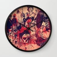 doom Wall Clocks featuring Boom Doom Ka Doom by zansky