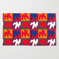 matisse Area & Throw Rugs featuring M for Matisse by CHOCOLORS