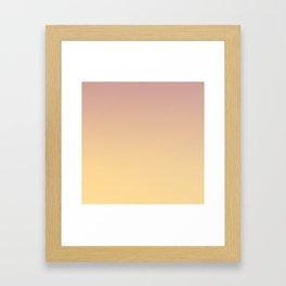 GRADUAL PATHS - Minimal Plain Soft Mood Color Blend Prints Framed Art Print