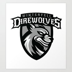 Direwolves Art Print