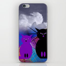 waiting for mice iPhone Skin