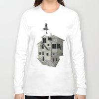 flight Long Sleeve T-shirts featuring FLIGHT by NOA ALON ART