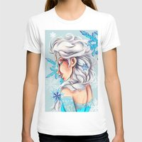 frozen elsa T-shirts featuring Elsa - Frozen by MissMachineArt