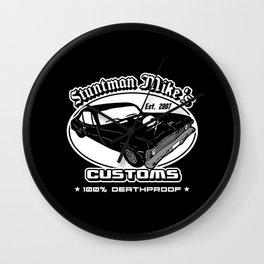 Stunt customs Wall Clock