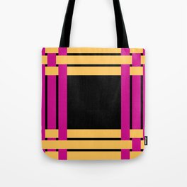 The intertwining pink and yellow ribbons Tote Bag