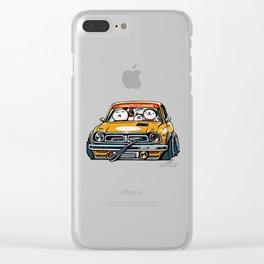 Crazy Car Art 0153 Clear iPhone Case