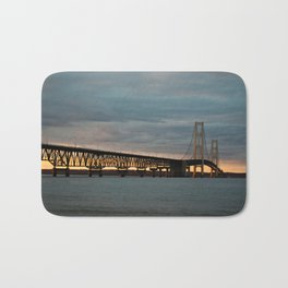 Sunset at the Mackinac Bridge Bath Mat