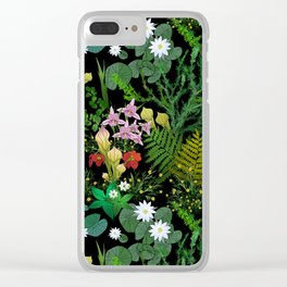 Botanical Bog Clear iPhone Case