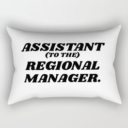assistant to the regional manager Rectangular Pillow