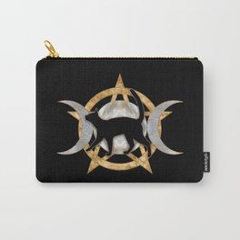 Triple Moon - Triple Goddess - Black cat Carry-All Pouch