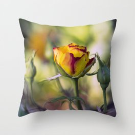 Bright cheeerful rose Throw Pillow