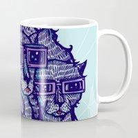 school Mugs featuring Art School by littleclyde