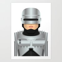 robocop Art Prints featuring Robocop by Capitoni