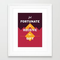 warcraft Framed Art Prints featuring Feel fortunate to receive this gift by krisztian