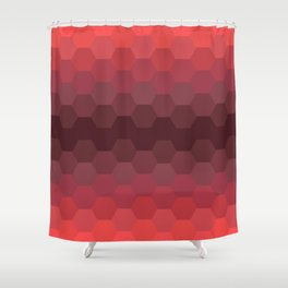 Red Honeycomb Shower Curtain